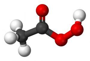 Estructura molecular del ácido peracético
