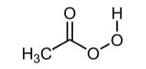 ácido peroxiacético, es un compuesto orgánico con la siguiente estructura química