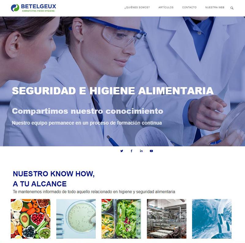 El blog sobre Seguridad e Higiene Alimentaria de BELTELGEUX-CHRISTEYNS aumenta sus visitas un 158% en seis meses