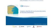 Limpieza y desinfección en el control de Listeria en industrias alimentarias