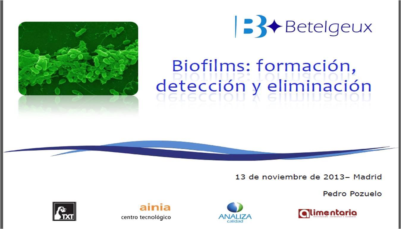 Biofilms: formación, detección y eliminación